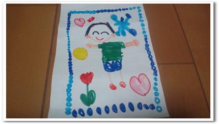 保育園の子どもが描いてくれた似顔絵
